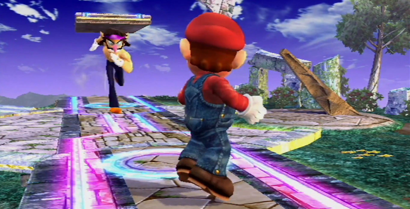 Waluigi Super Smash Bros Brawl Mod Screen Cap