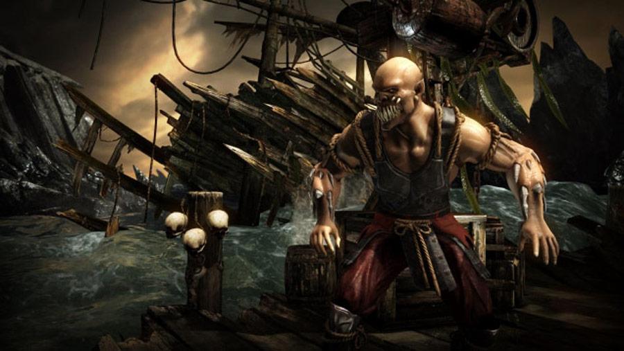 Mortal Kombat X screen shots of Erron Black, Baraka, Shinnok, Goro and Jax #6