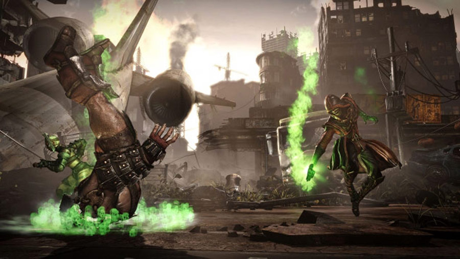 Mortal Kombat X screen shots of Erron Black, Baraka, Shinnok, Goro and Jax #19