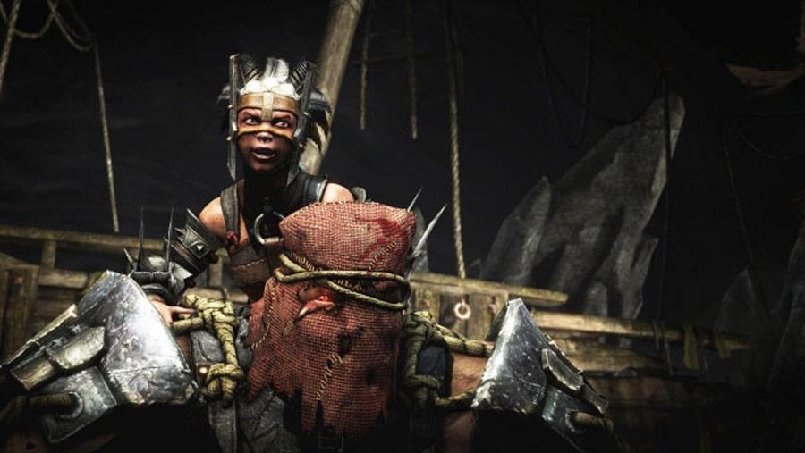 Mortal Kombat X screen shots of Erron Black, Baraka, Shinnok, Goro and Jax #22
