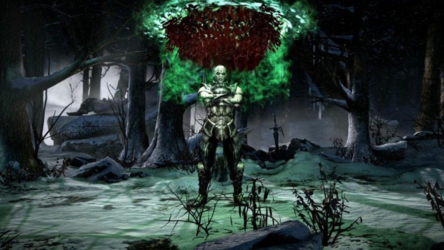 Mortal Kombat X screen shots of Erron Black, Baraka, Shinnok, Goro and Jax #23
