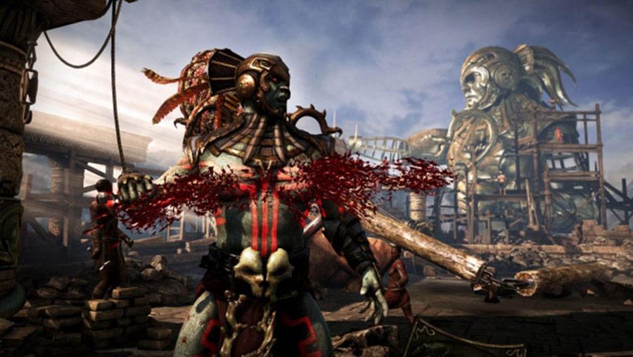 Mortal Kombat X screen shots of Erron Black, Baraka, Shinnok, Goro and Jax #28
