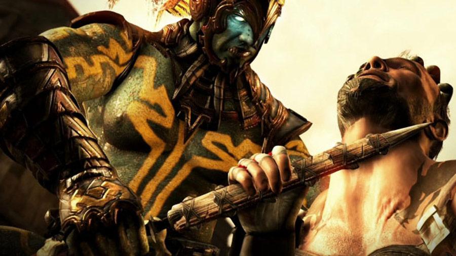 Mortal Kombat X screen shots of Erron Black, Baraka, Shinnok, Goro and Jax #37