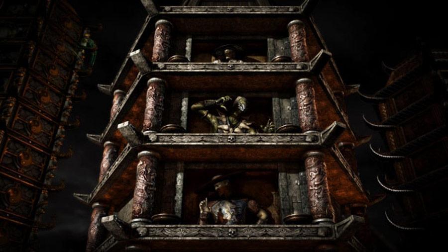 Mortal Kombat X screen shots of Erron Black, Baraka, Shinnok, Goro and Jax #41