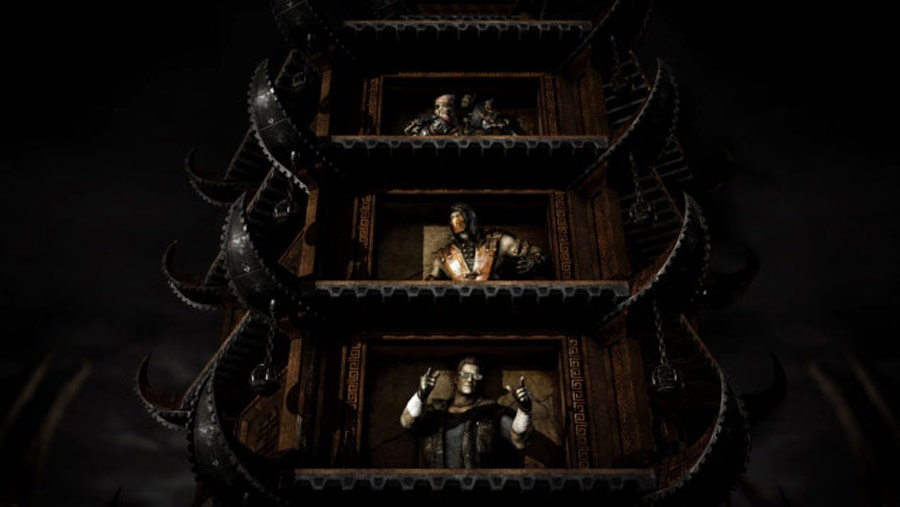 Mortal Kombat X screen shots of Erron Black, Baraka, Shinnok, Goro and Jax #42