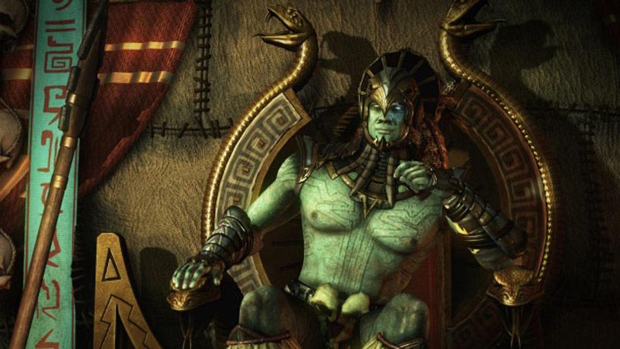Mortal Kombat X screen shots of Erron Black, Baraka, Shinnok, Goro and Jax #47