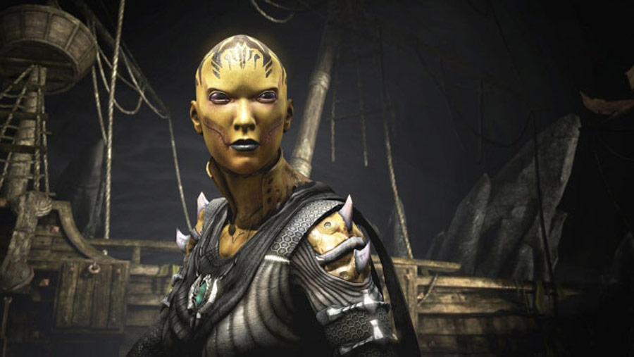 Mortal Kombat X screen shots of Erron Black, Baraka, Shinnok, Goro and Jax #51