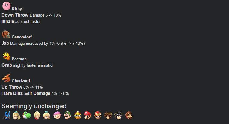 Super Smash Bros. 4 ver. 1.06 confirmed changes #2