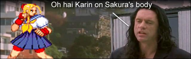Karin was hidden in Marvel Super Heroes vs  Street Fighter