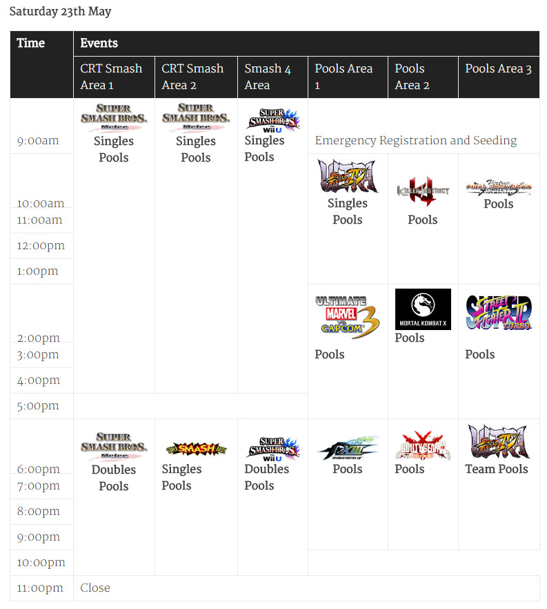 Battle Arena Melbourne 2015 schedule 1 out of 2 image gallery