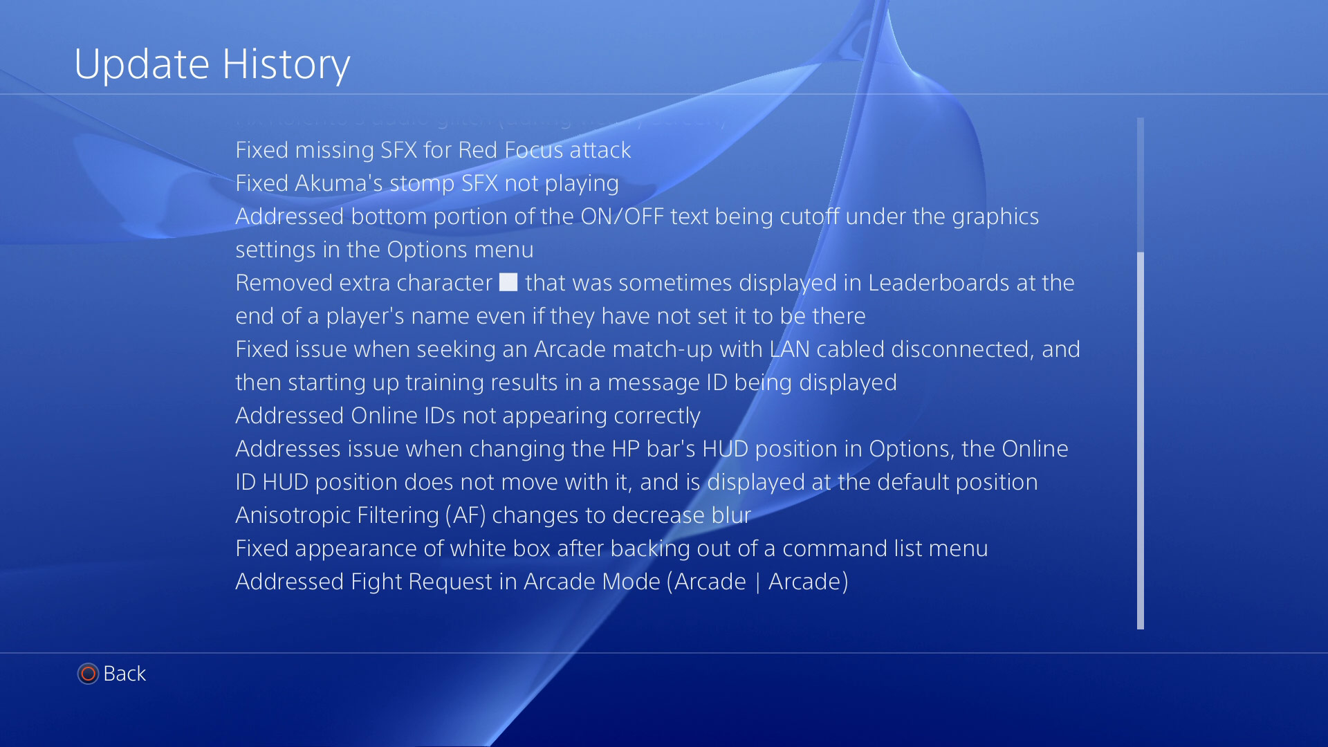 Ultra Street Fighter 4 on PS4 patch #1 notes 2 out of 2 image gallery