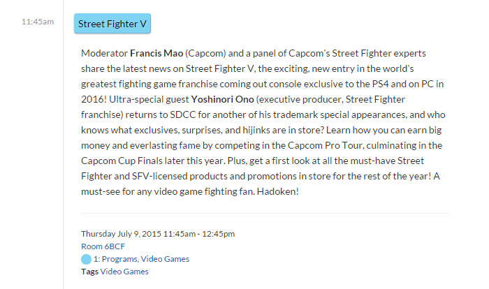 Street Fighter 5 San Diego Comic-Con panel info 1 out of 1 image gallery
