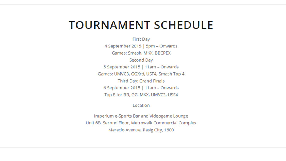 Manila Cup Schedule 1 out of 1 image gallery