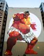 Giant E. Honda mural in Japan image #1
