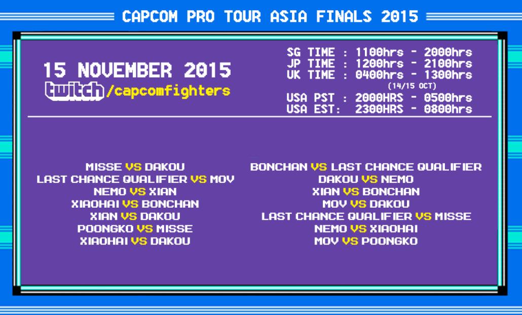 Capcom Pro Tour Asia Finals