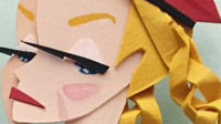 Fighting game paper sculptures image #1
