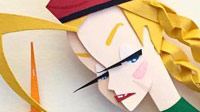 Fighting game paper sculptures image #2