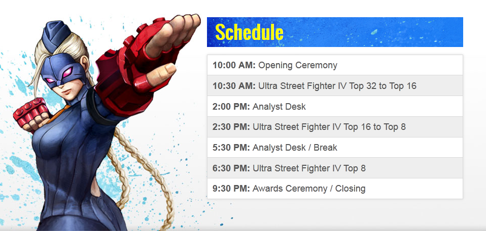 Capcom Cup schedule and prizes 1 out of 2 image gallery
