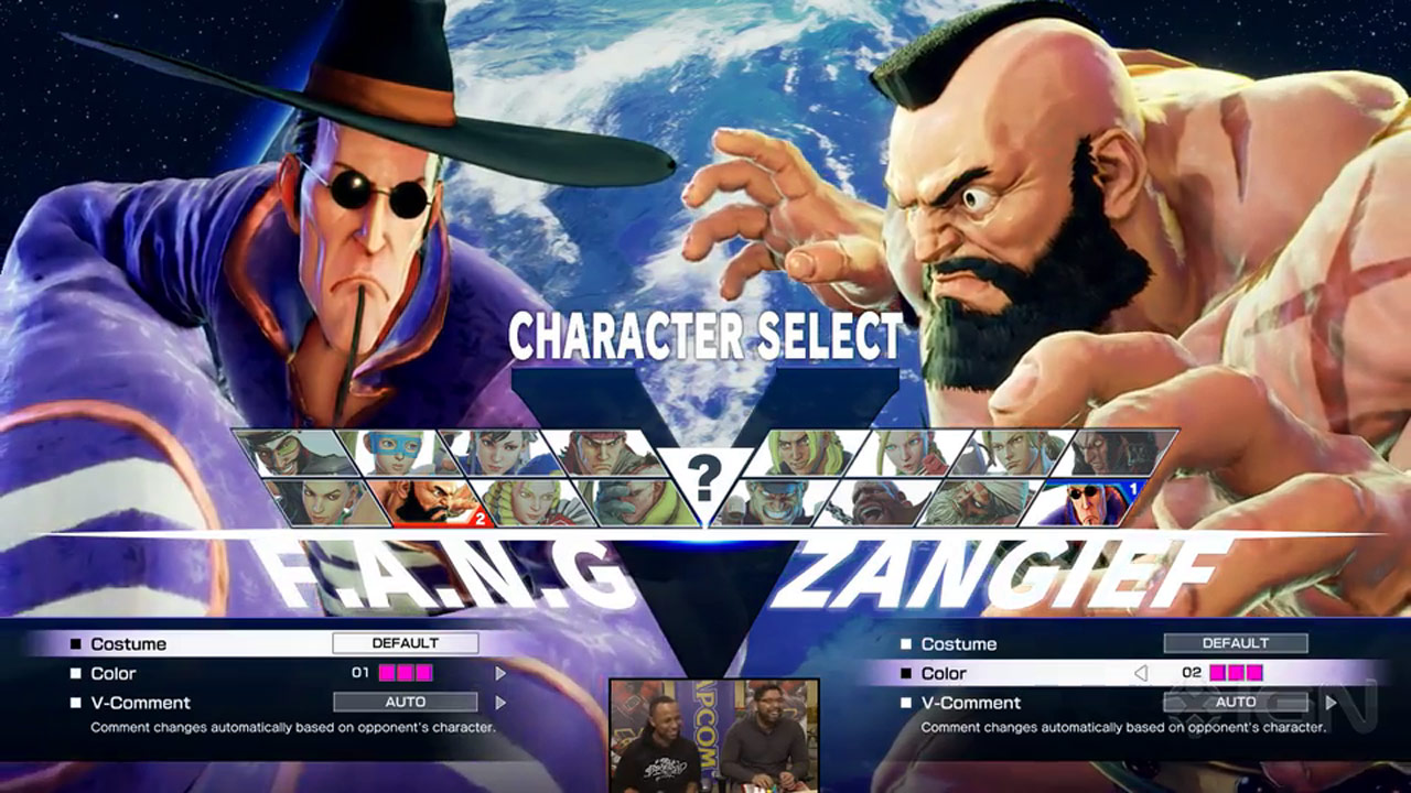 Street Fighter 5 Character Select Screen 1 Out Of 6 Image Gallery