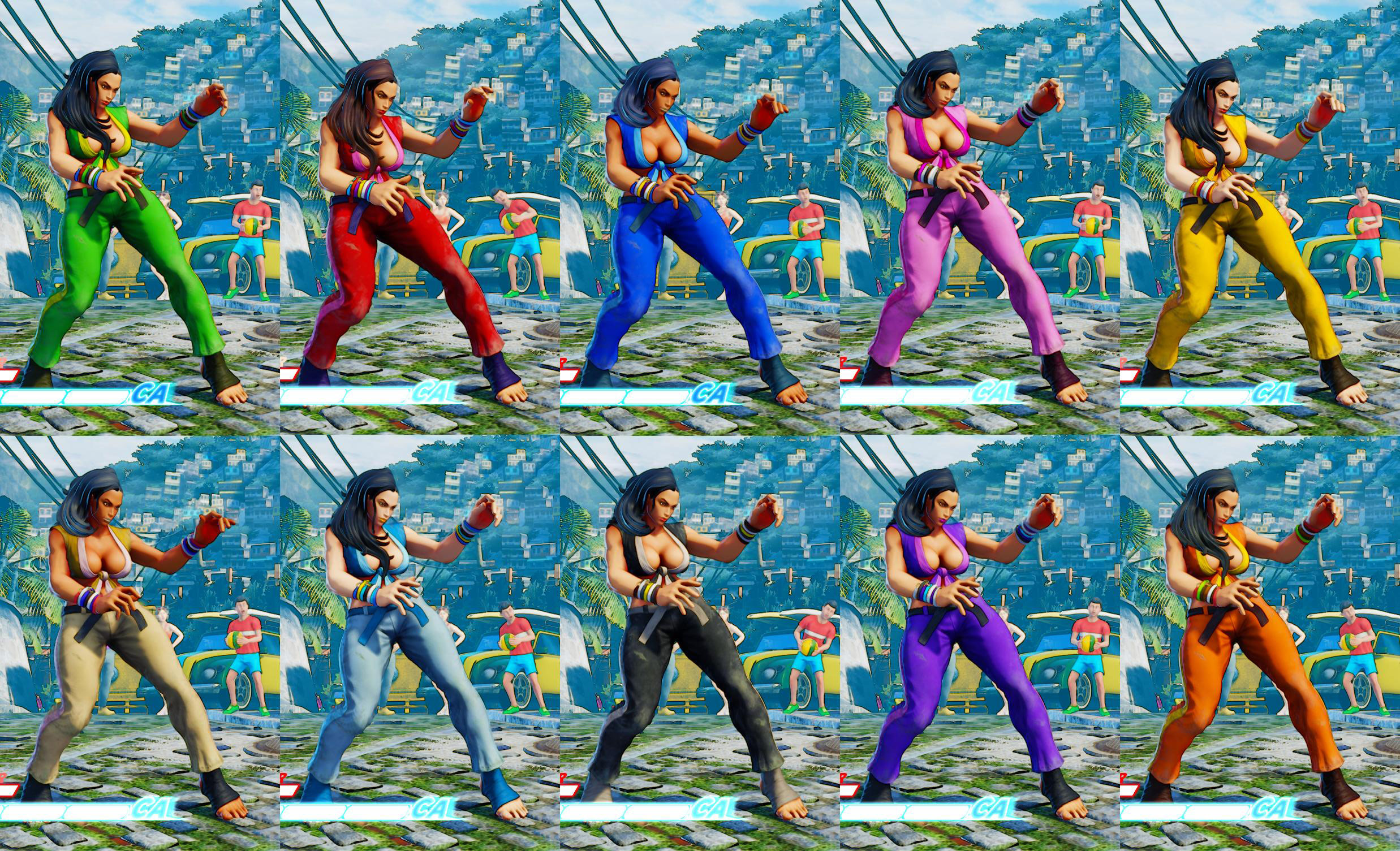 Street Fighter 5 colors for default costumes 1 out of 16 image gallery