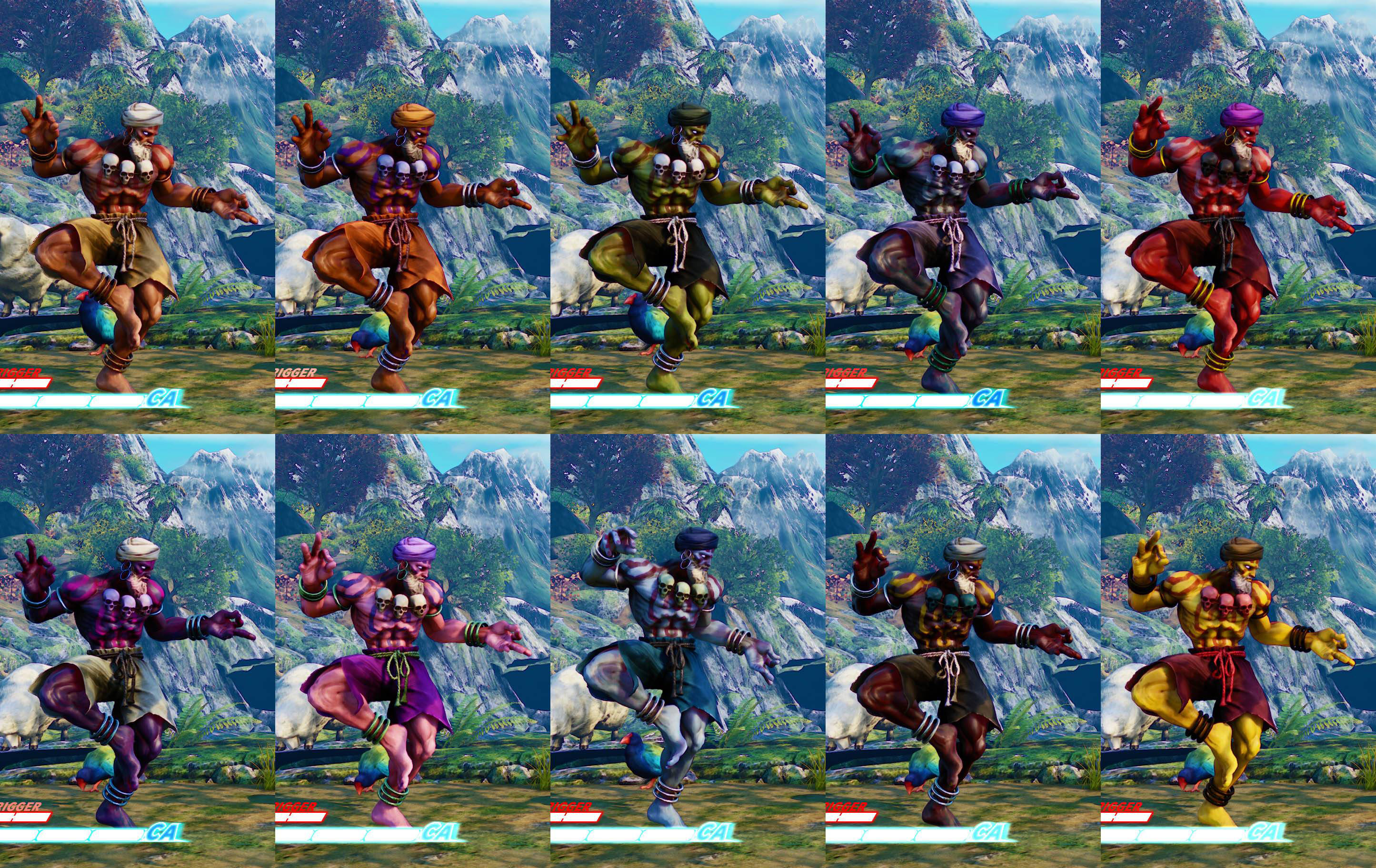 Street Fighter 5 colors for default costumes 2 out of 16 image gallery