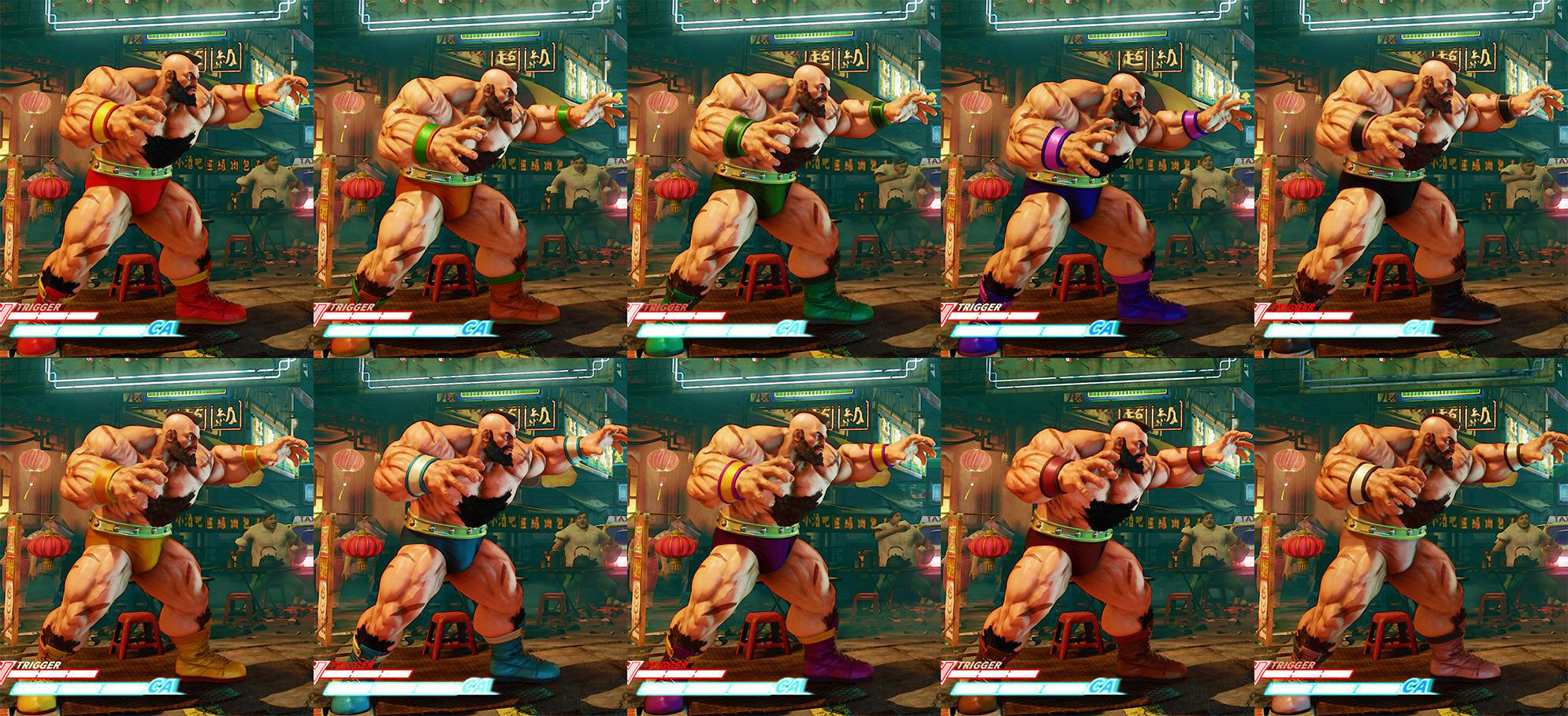 Street Fighter 5 colors for default costumes 3 out of 16 image gallery