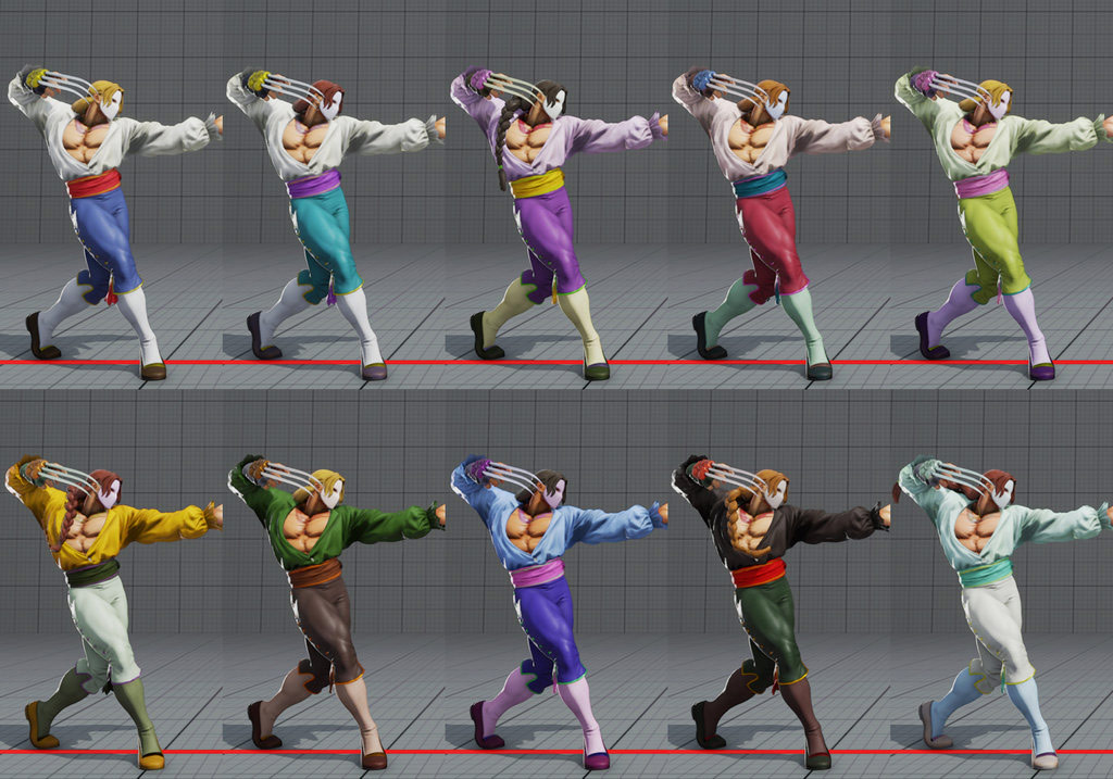 Street Fighter 5 colors for default costumes 4 out of 16 image gallery