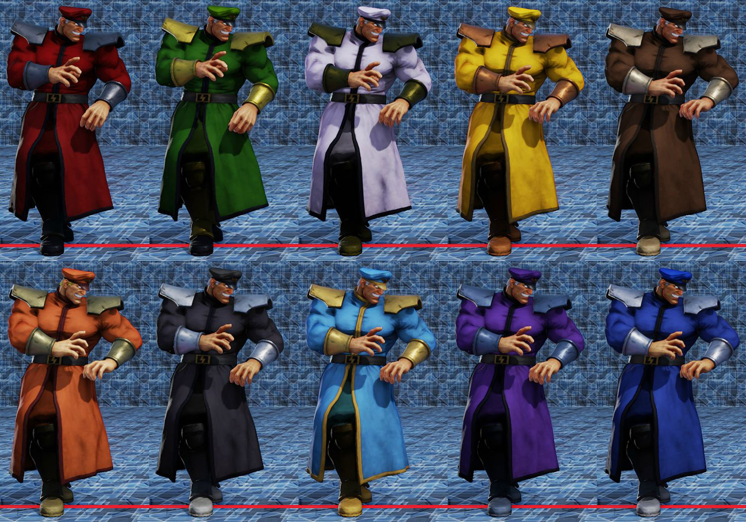 Street Fighter 5 colors for default costumes 5 out of 16 image gallery