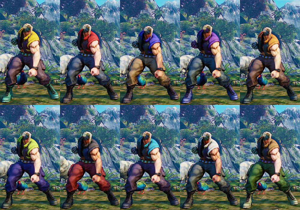 Street Fighter 5 colors for default costumes 7 out of 16 image gallery