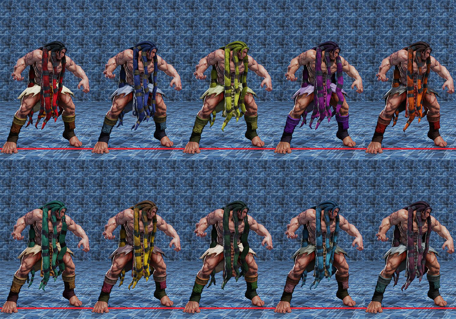 Street Fighter 5 colors for default costumes 12 out of 16 image gallery