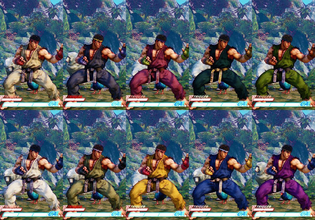 Street Fighter 5 colors for default costumes 14 out of 16 image gallery