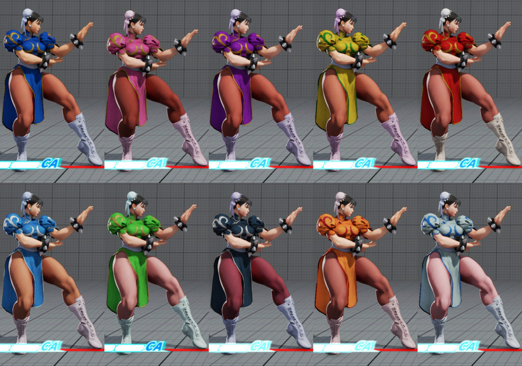 Street Fighter 5 colors for default costumes 16 out of 16 image gallery