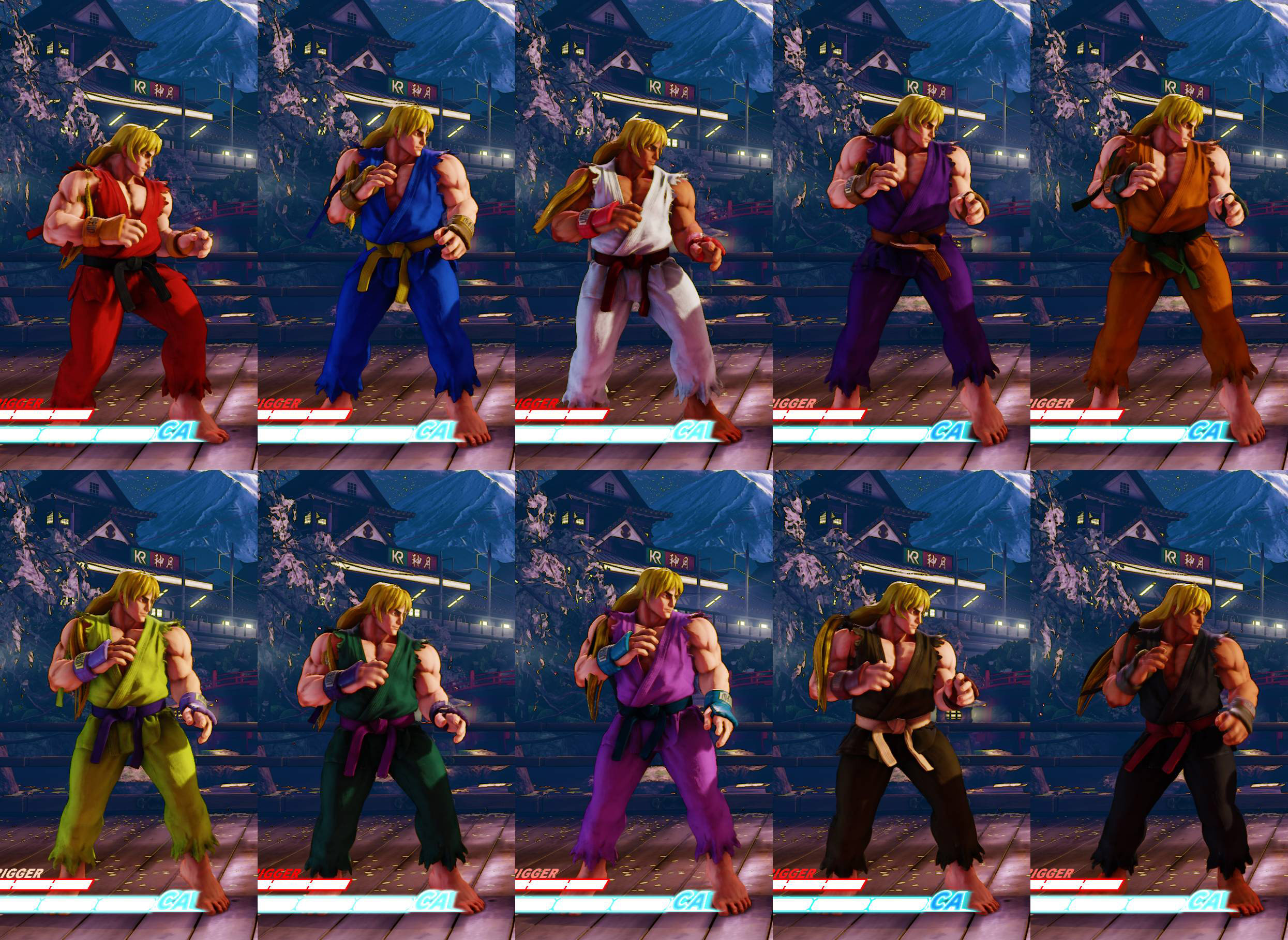 Ryu And Ken S Street Fighter 5 Alpha Costume Colors 1 Out Of 2 Image Gallery