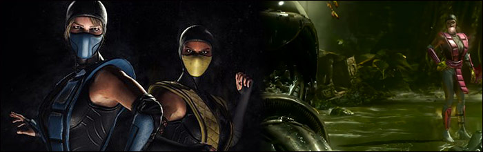 Mortal Kombat Xu0027s Jacqui Briggs and Cassie Cage slip into some sexy old school ninja costumes and you can get them for free & Mortal Kombat Xu0027s Jacqui Briggs and Cassie Cage slip into some sexy ...
