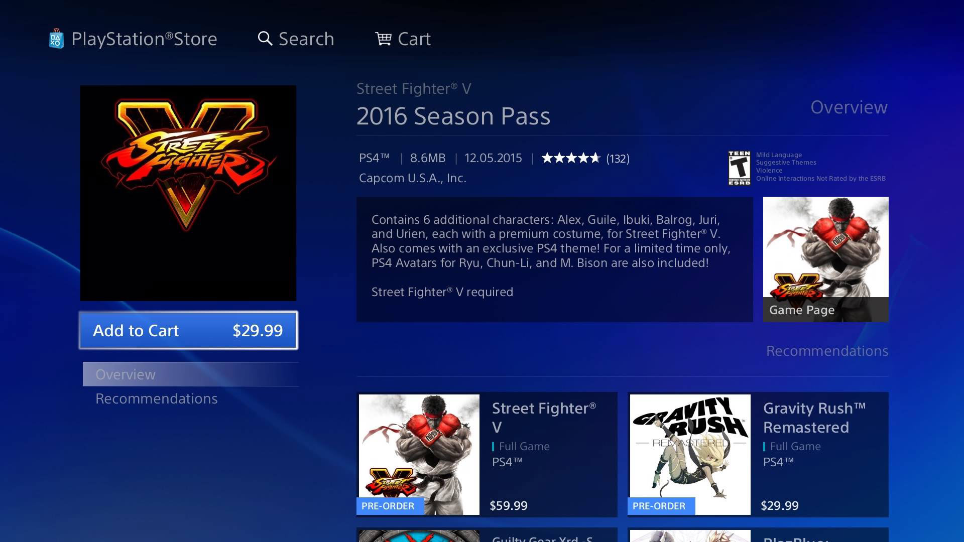 Street Fighter 5 season pass comes with premium costume for every DLC character