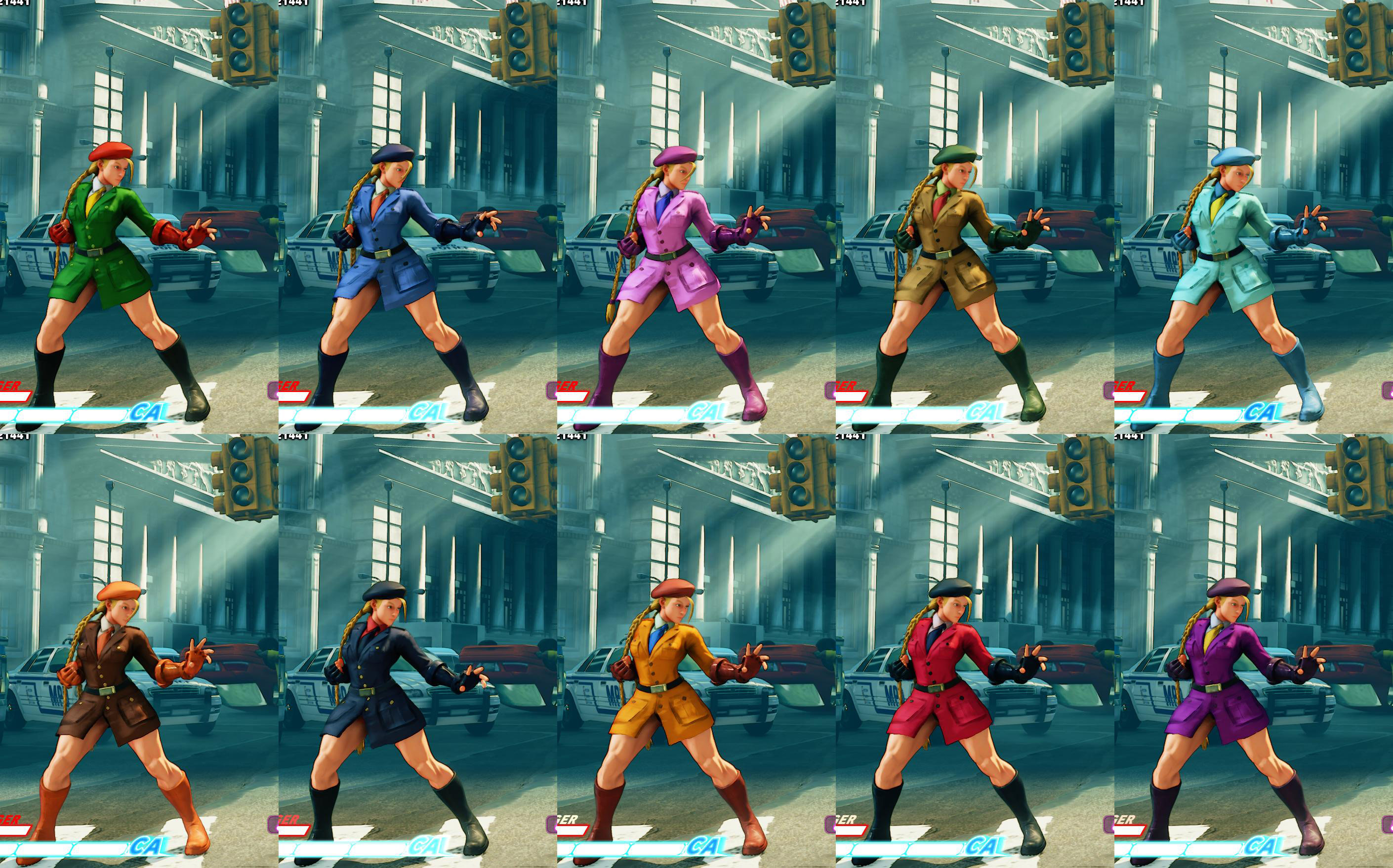 All colors for SF5 story and pre-order costumes 7 out of 21 image gallery