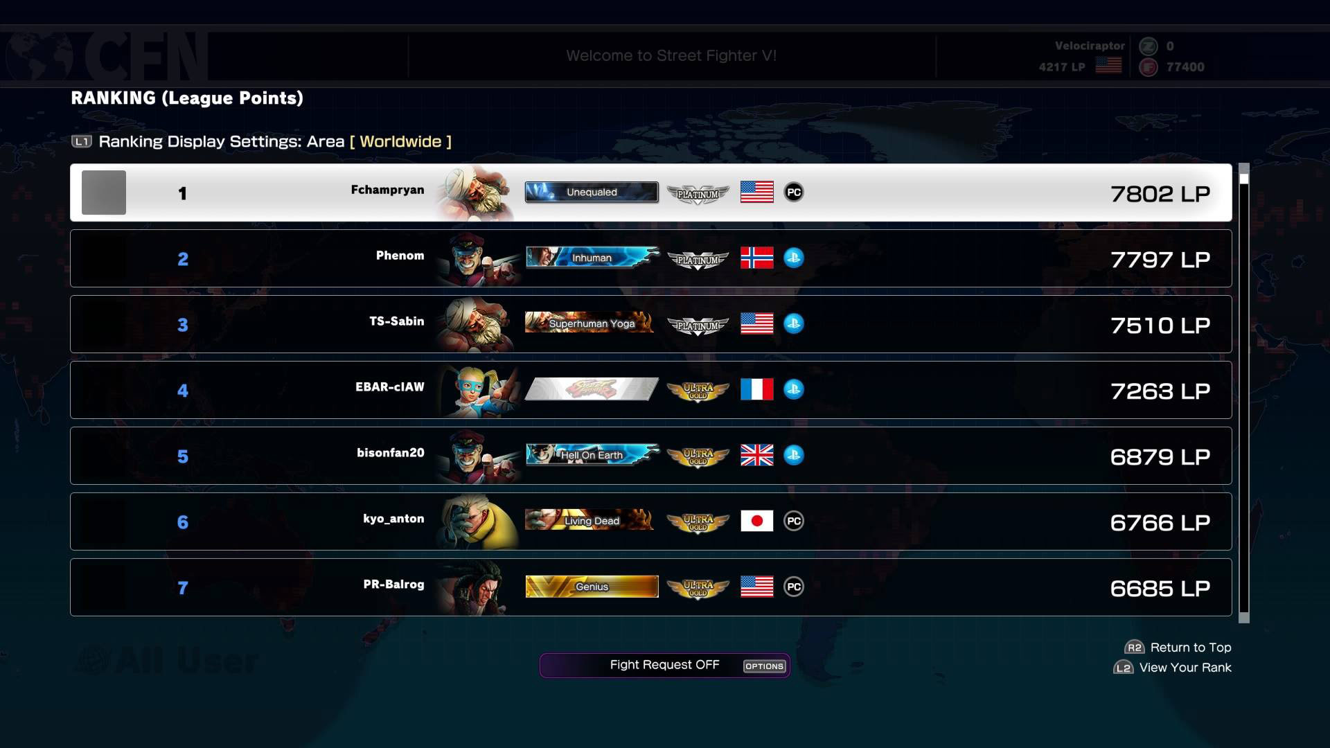 SF5 Leader Boards 1 out of 1 image gallery