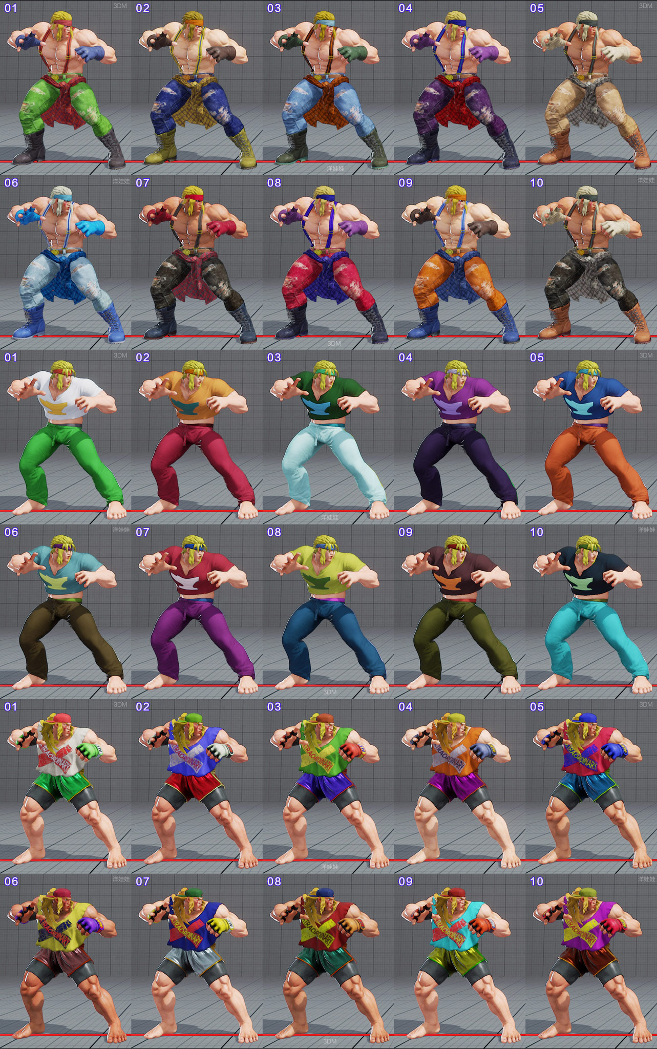 All colors for all current costumes in Street Fighter 5 2 out of 18 image gallery
