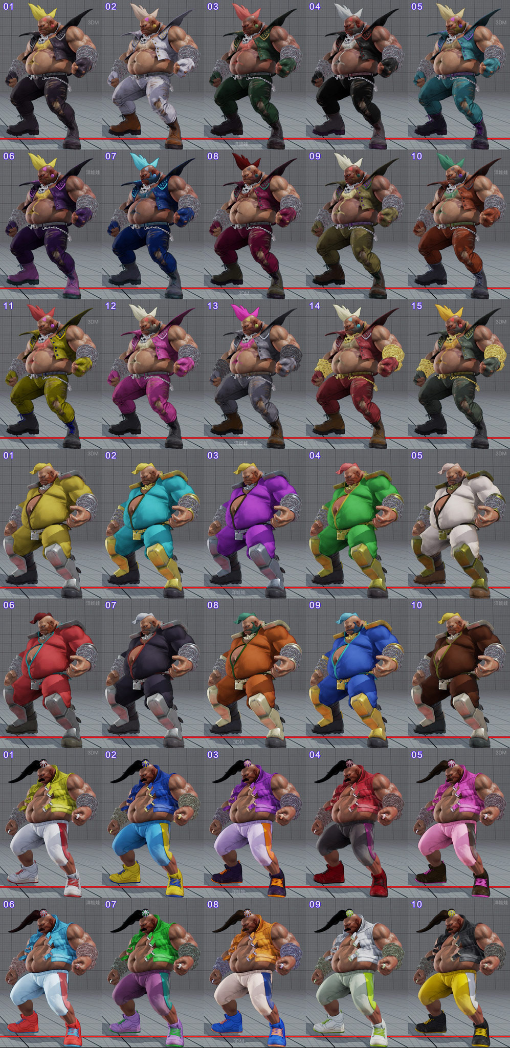 All colors for all current costumes in Street Fighter 5 3 out of 18 image gallery