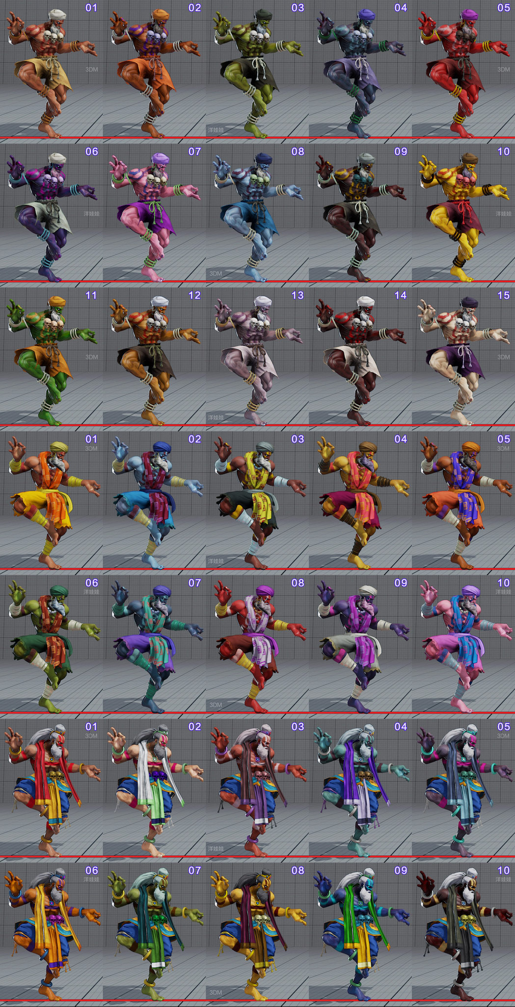 All colors for all current costumes in Street Fighter 5 5 out of 18 image gallery
