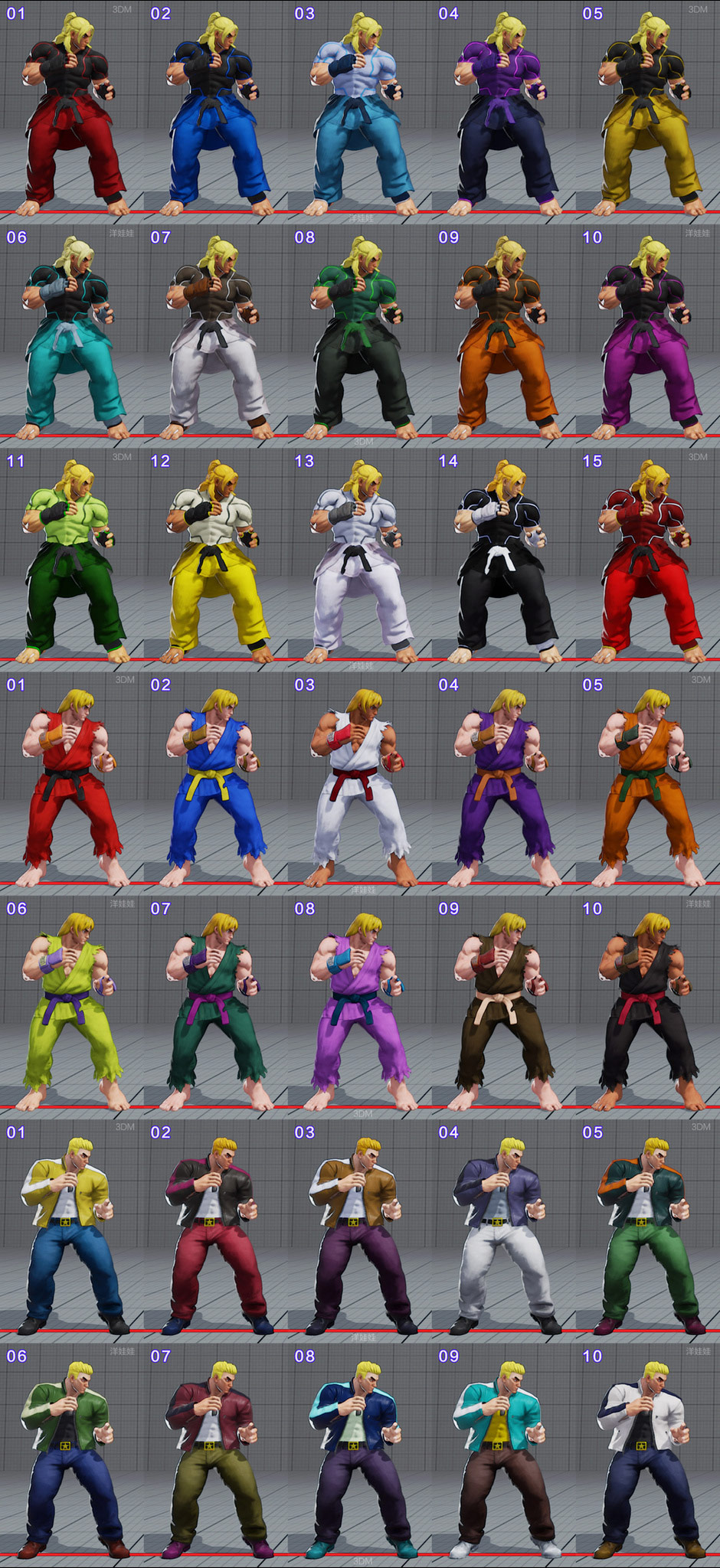 All colors for all current costumes in Street Fighter 5 6 out of 18 image gallery