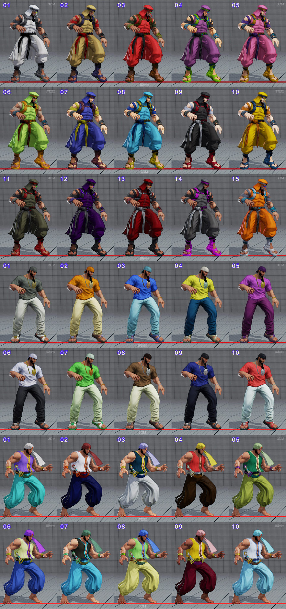 All colors for all current costumes in Street Fighter 5 10 out of 18 image gallery