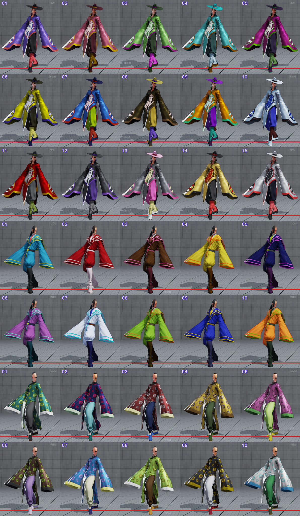 All colors for all current costumes in Street Fighter 5 11 out of 18 image gallery
