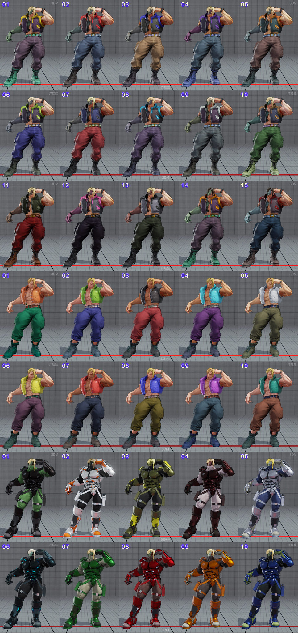 All colors for all current costumes in Street Fighter 5 12 out of 18 image gallery