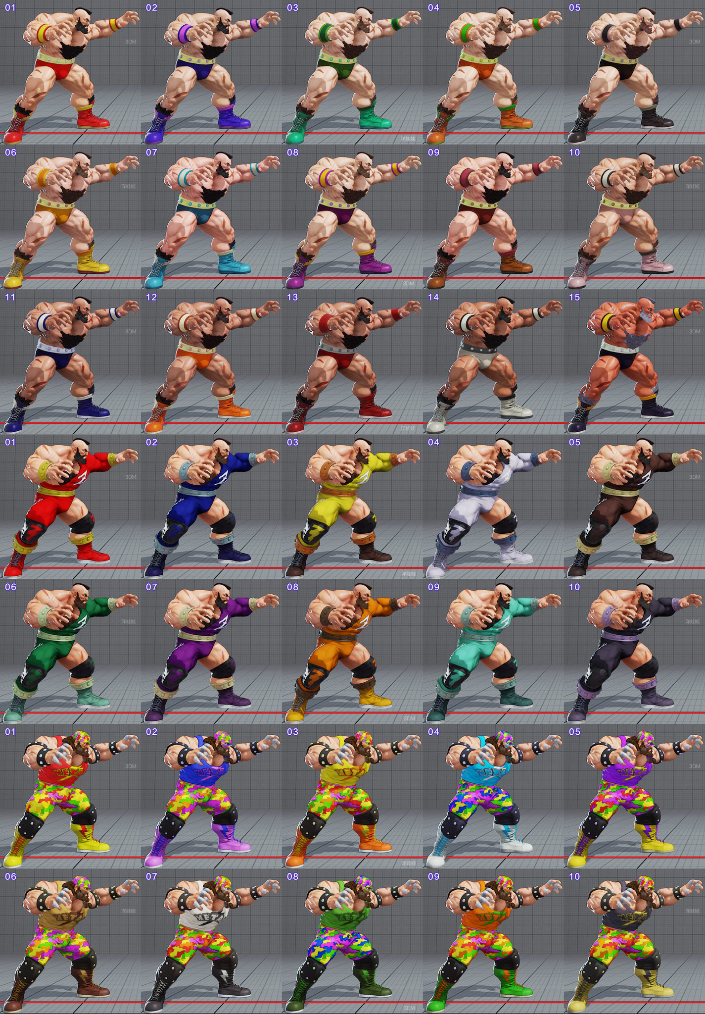 All colors for all current costumes in Street Fighter 5 13 out of 18 image gallery