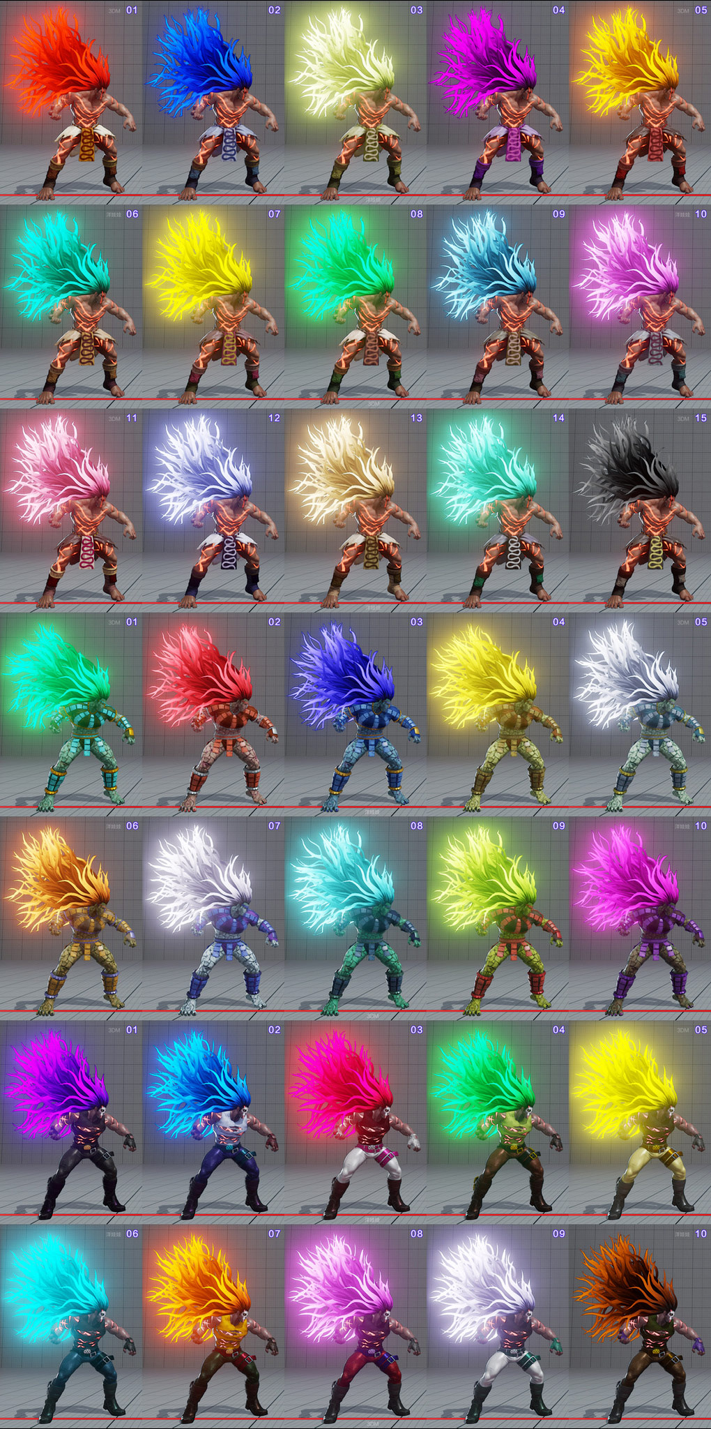 All colors for all current costumes in Street Fighter 5 16 out of 18 image gallery