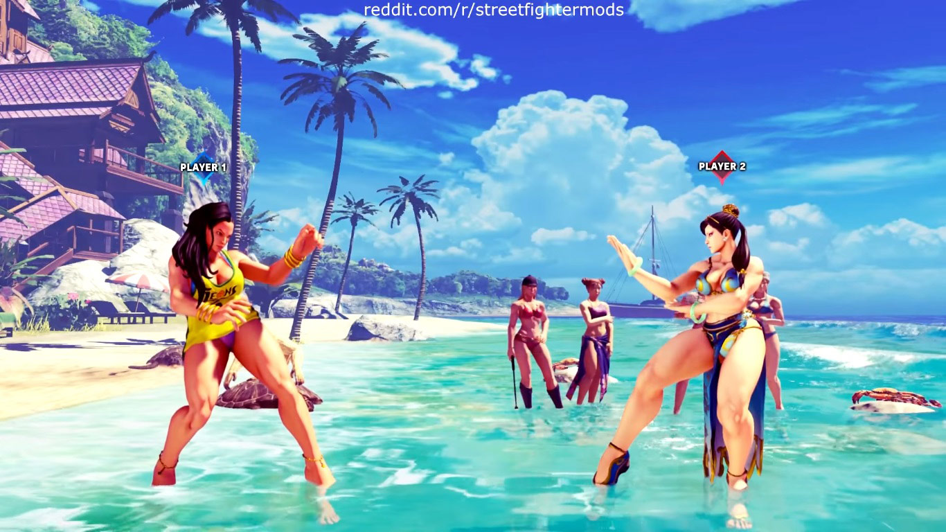 Summer costumes for Karin, Mika, Chun-Li, Laura, and Karin 3 out of 12 image gallery