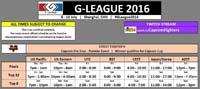 G League 2016 Schedule image #1