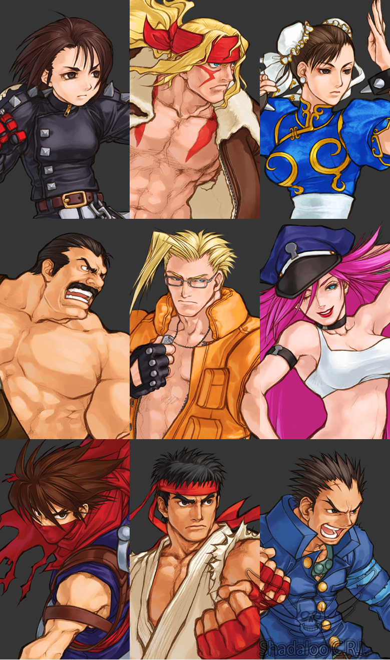 Capcom Fighting All-Stars Character Select 1 out of 7 image gallery