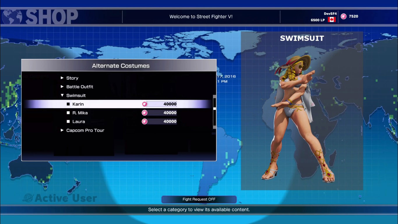 Redesigned Street Fighter 5 in-game shop 1 out of 4 image gallery